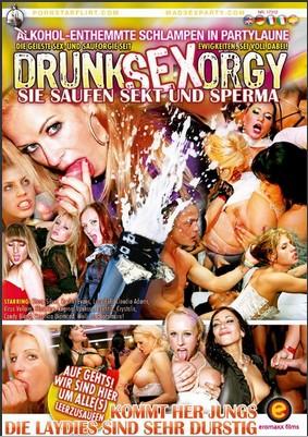 Drunk Sex Orgy Sie saufen Sekt und Sperma